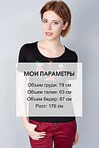 """Футболка вышиванка """"Мак-ромашка"""" черная KRAYKA, фото 3"""