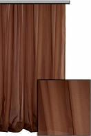 Ткань Шифон для декора окон и помещений, коричневый