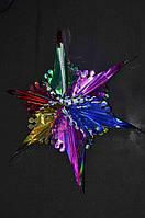Фонарь звезда новый цветной  0394