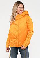 Демисезонная женская стильная куртка свободного кроя на силиконе Modniy Oazis желтая 90144, фото 1