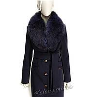Стильное кешемировое пальто ,зима с мехом, фото 1