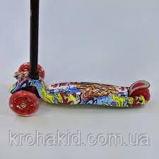 """Самокат MAXI """"Best Scooter"""" А 24644 /779-1388  колеса PU- диаметр 12 см, трубка руля алюминиевая, фото 2"""