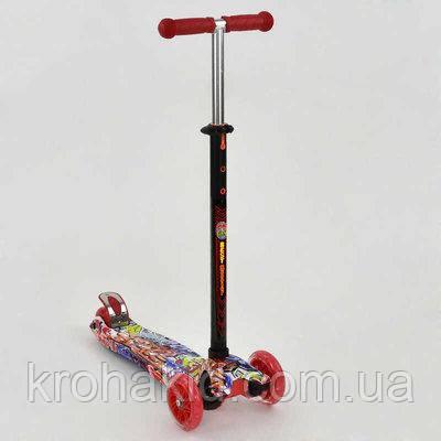"""Самокат MAXI """"Best Scooter"""" А 24644 /779-1388  колеса PU- диаметр 12 см, трубка руля алюминиевая"""