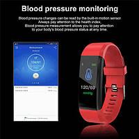Цветной фитнес-браслет Y5 plus красный цвет