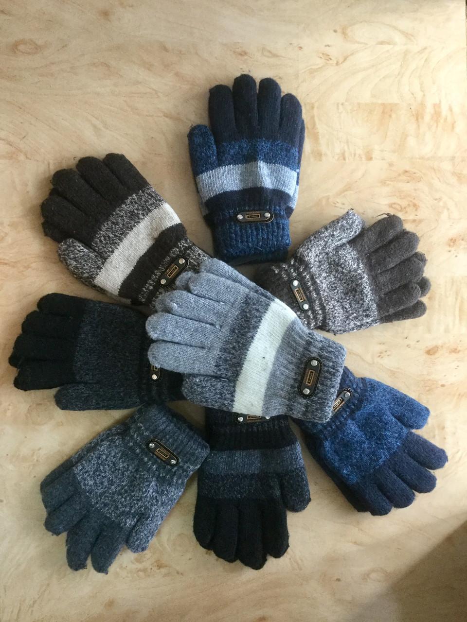 Перчатки для мальчика двухслойные с украшением