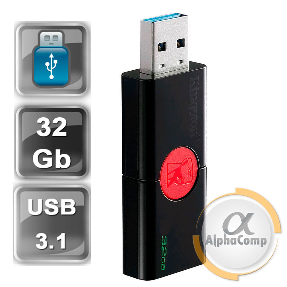 USB Flash 32Gb USB 3.1 Kingston DataTraveler 106 Black/Red (DT106/32GB)