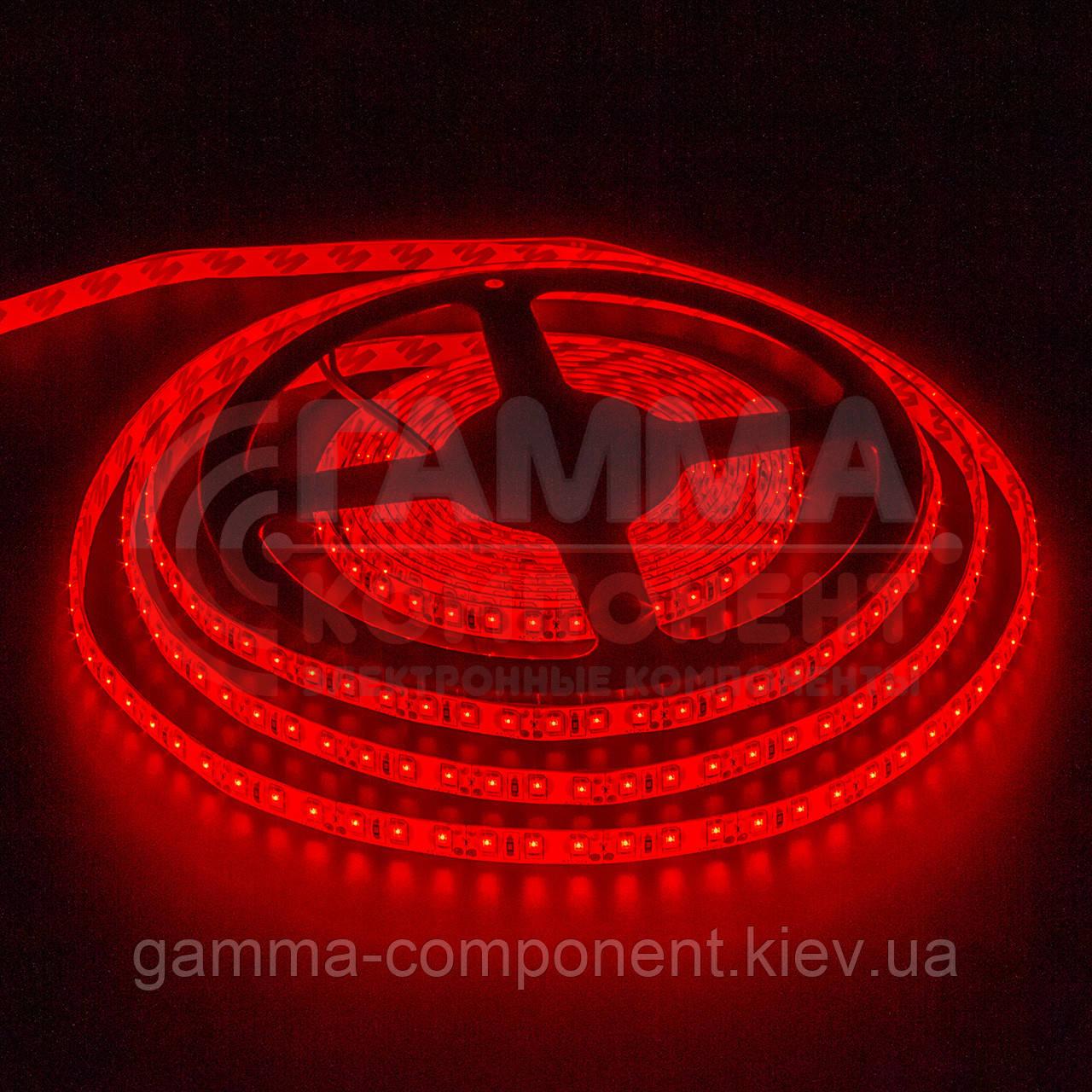 Светодиодная лента SMD 2835 (120 LED/м), красный, IP20, 12В