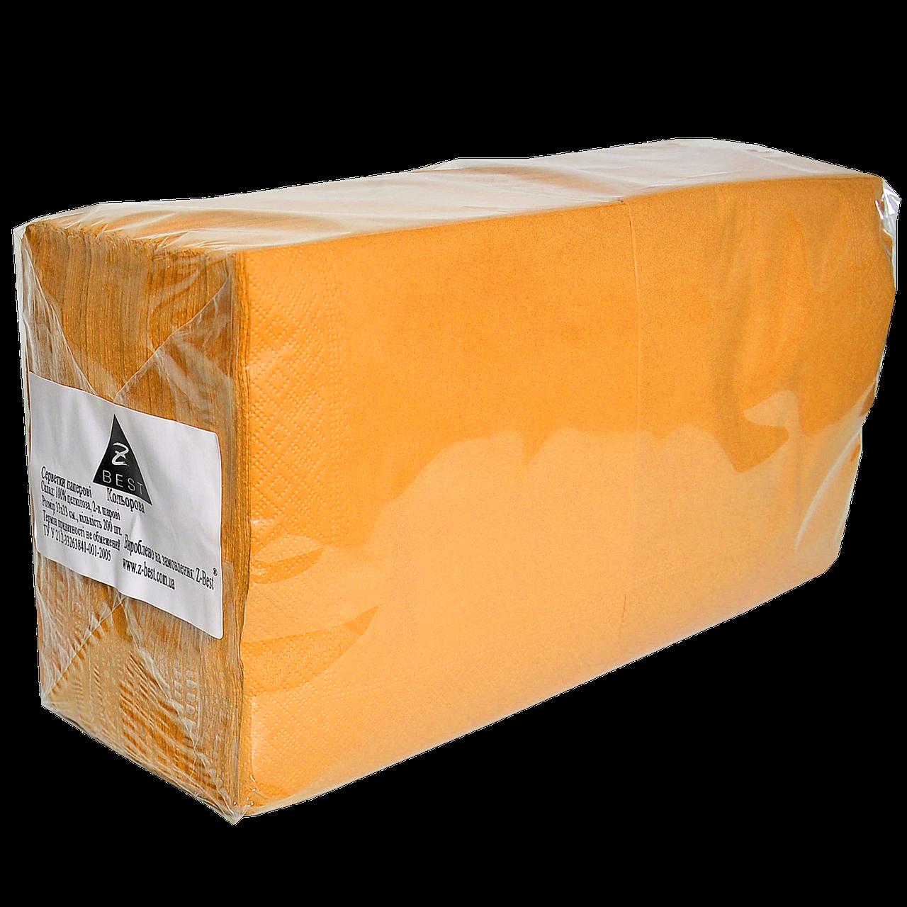 "Салфетка ""Z-Best"" оранжевая 33х33 200шт 2сл (1ящ/4уп)"