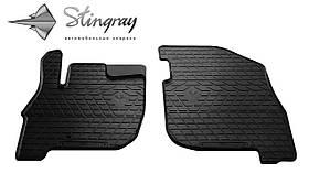 Передние резиновые коврики Mitsubishi Galant IX 2003- Stingray (2шт/комп) 1013112