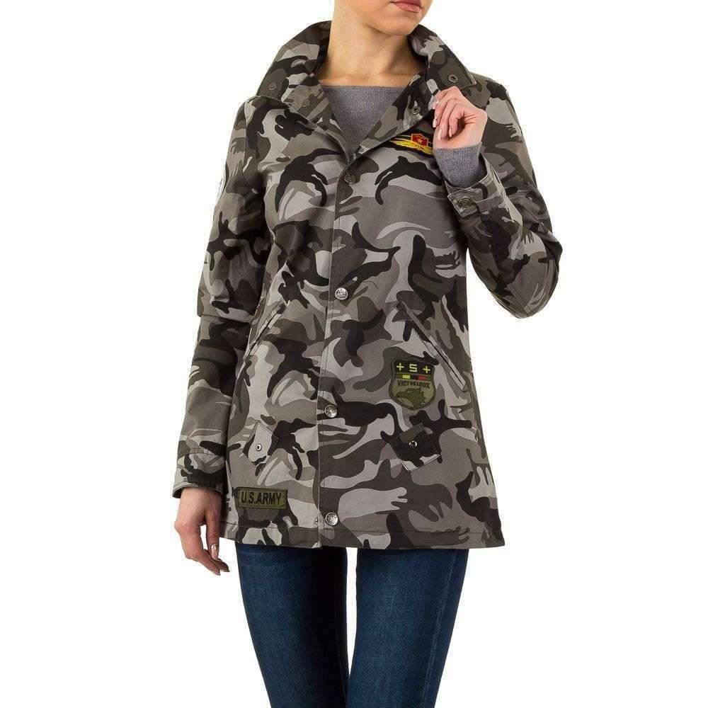 Удлиненная куртка женская с патчами Daysie Jeans (Франция), Камуфляжный