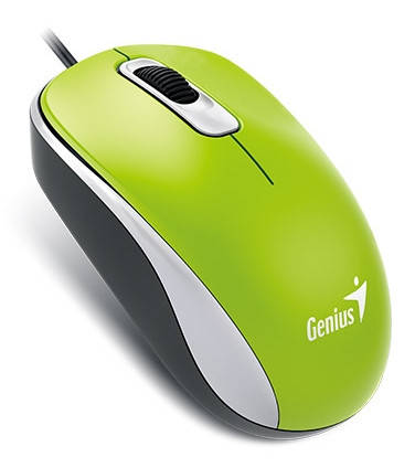Мышь Genius DX-110 USB, Green, фото 2