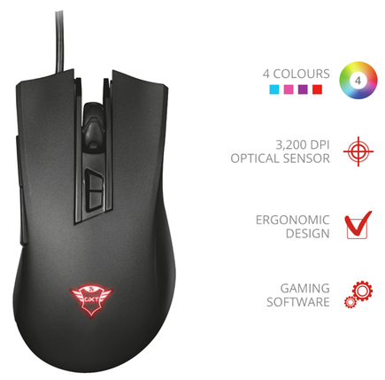 Мышь Trust GXT 121 Zeebo Gaming Mouse LED Lighting, фото 2