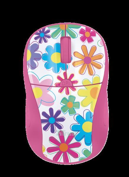 Мышь Trust Primo Wireless Mouse Pink Flowers