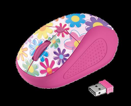 Мышь Trust Primo Wireless Mouse Pink Flowers, фото 2