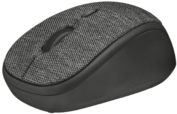 Мышь Trust YVI Fabric Wireless Mouse Black, фото 2