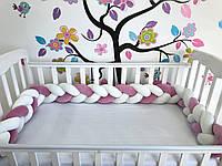 Бортик в детскую кроватку Косичка