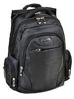 Рюкзак спортивный 9902 black черный из нейлона с плотной спинкой, фото 1