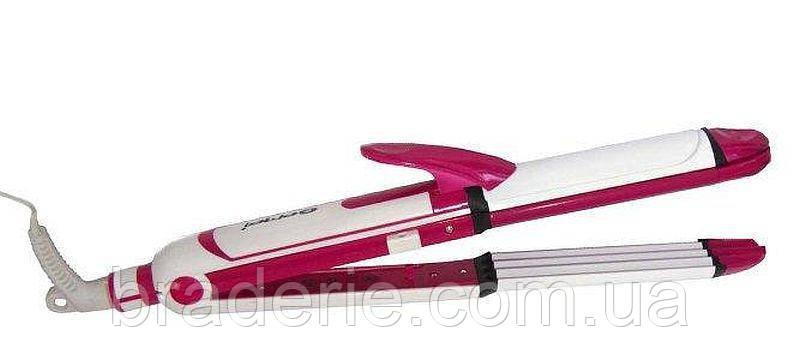 Стайлер для волос Gemei GM 2921 3в1, фото 2
