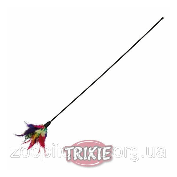 Игрушка для кошек Палочка с перьями Trixie 50 см