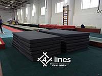 Мат спортивний / гімнастичний 1000х2000х100мм Саржа 275г/м2, фото 1