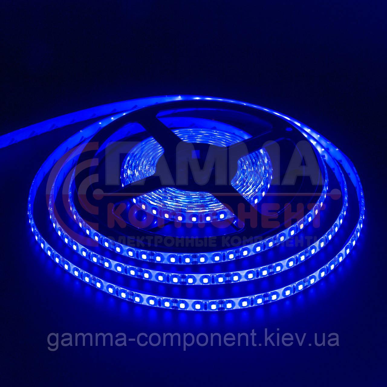 Светодиодная лента SMD 2835 (120 LED/м), синий, IP20, 12В, бобины от 5 метров