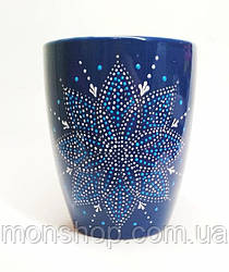 Чашка тёмно-синяя 330 мл