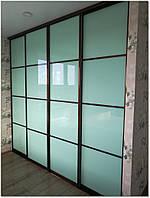 Двери-купе с крашеным стеклом
