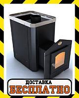 """Каменка для сауны """"Классик"""" Новаслав с выносной топкой и дверкой со стеклом"""