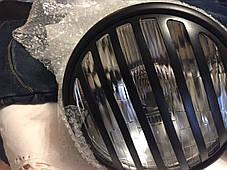 Кастом классическая круглая  мото фара с решеткой (Chopper, Bobber, Cafe Racer), фото 3