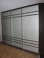 Двери-купе с зеркалом сатин