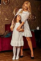 """Весеннее платье для девочки """"Даниэлла"""" (128-152р) белое"""