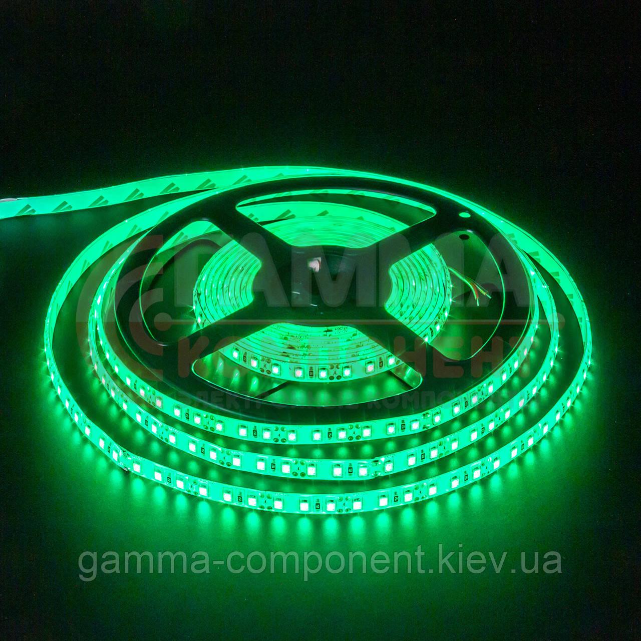 Светодиодная лента SMD 2835 (120 LED/м), зеленый, IP20, 12В