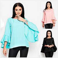 Женская блуза с воланами 18133, фото 1