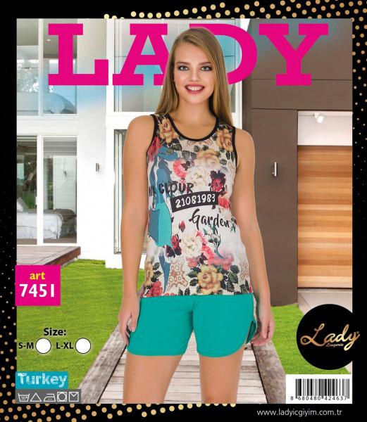 Майка з шортами LADY LINGERIE 7451
