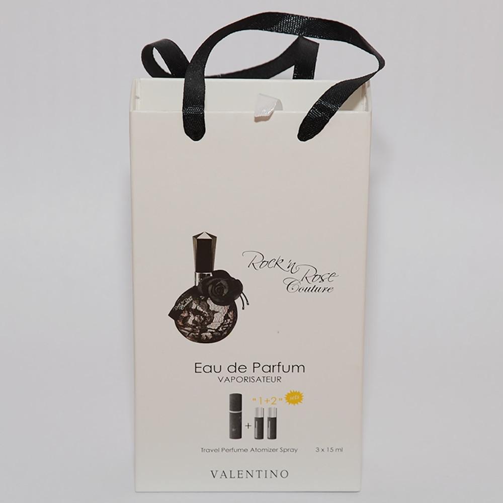 Rock`n`Rose Couture Valentino мини парфюмерия в подарочной упаковке 3х15ml