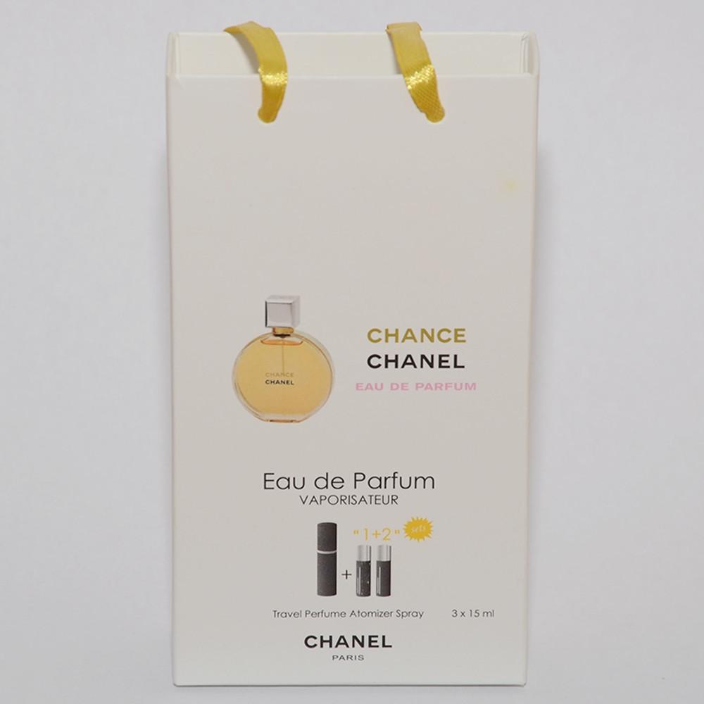 Мини парфюмерия женская Chanel Chance в подарочной упаковке 3х15 ml