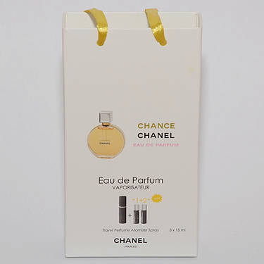 Мини парфюмерия женская Chanel Chance в подарочной упаковке 3х15 ml, фото 2