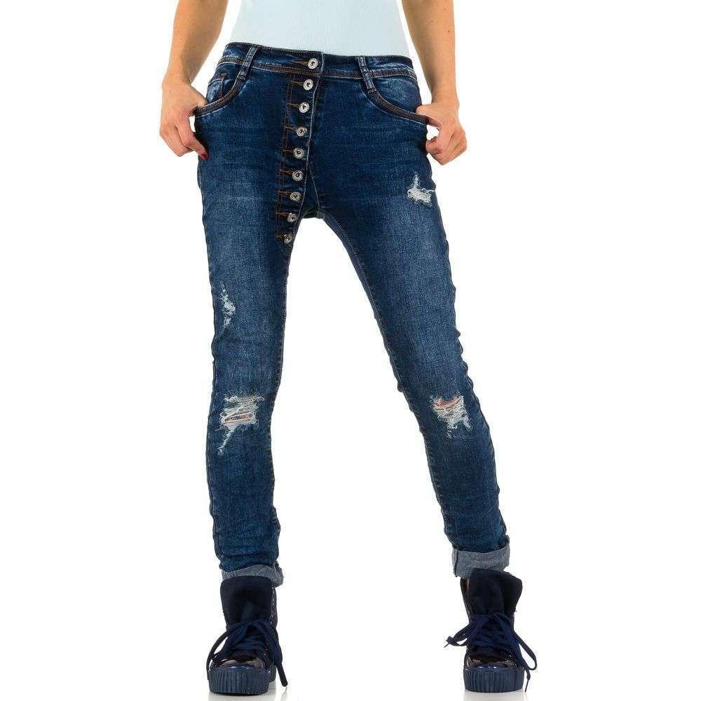 c8a7e4b5c7714 Женские джинсы бойфренды скинни в стиле Haremsstyle от Laulia (Европа) Синий