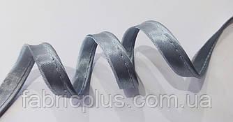 Кант встрочной атласный 11 мм Peri (119) светлый серый