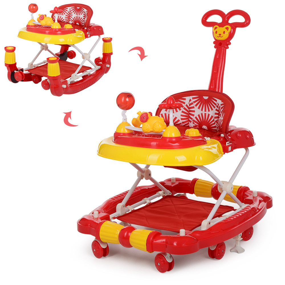 Bambi Ходунки Bambi 3 в 1 M 3848-3 Red (M 3848)