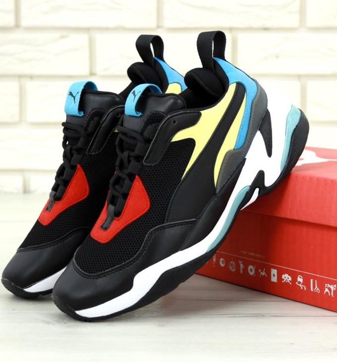Мужские кроссовки Puma Thunder Spectra Black. Живое фото (Реплика ААА+)
