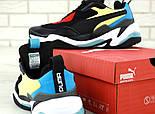 Мужские кроссовки Puma Thunder Spectra Black. Живое фото (Реплика ААА+), фото 6