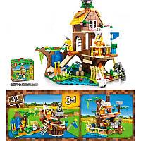 Конструктор по мотивам игры Майнкрафт(Minecraft) Домик у озера 3 в 1 на 369 деталей, копия легоSY1165