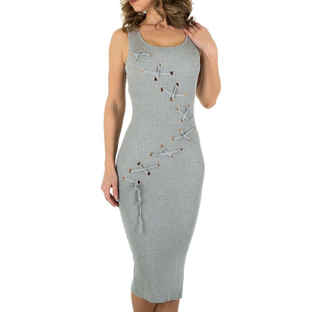 Женское платье от Voyelles, размер M/38 - серый - KL-P116-серый S/M