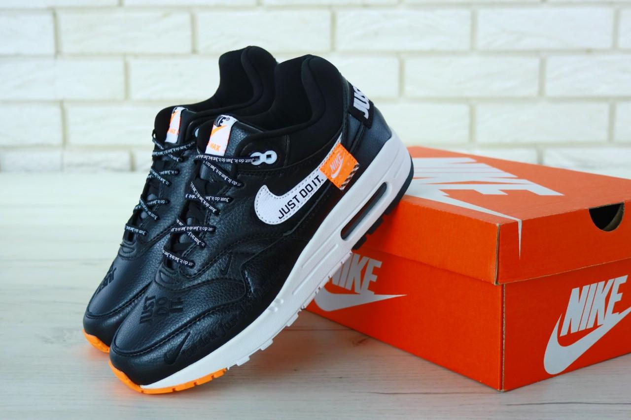 64b1161e Кроссовки Мужские Nike Air Max 90 Just Do It Black/White Реплика — в ...