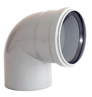 Колено канализационное ПП 50х90°