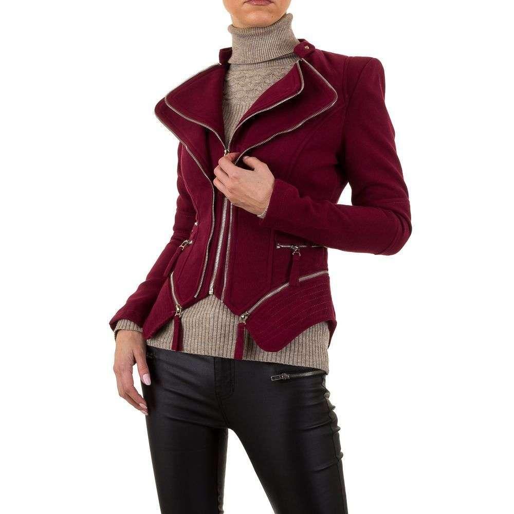 Куртка женская декорированная молниями Noemi Kent (Франция), Бордовый