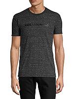 Мужская черная футболка с лого Karl Lagerfeld Paris