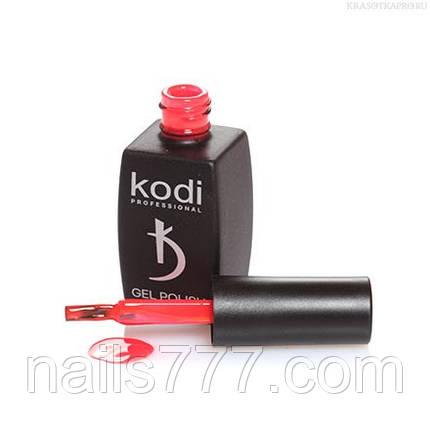 Гель лак Kodi  № 60BR, яркий кораллово-алый, фото 2