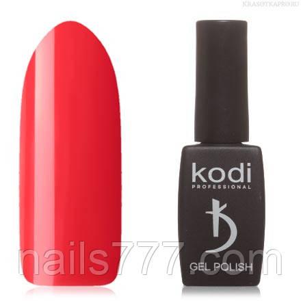 Гель лак Kodi  № 60BR, яркий кораллово-алый